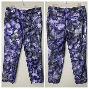 Banana Republic Floral Silk Sun Dyed Pant New 4